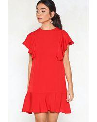 Nasty Gal - Wow Ruffle Dress - Lyst