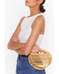 "Nasty Gal ""one Size Natural Wood Grab Bag"""