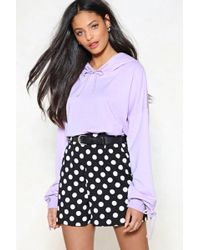 Nasty Gal - Put It To The Test Ruched Hoodie - Lyst