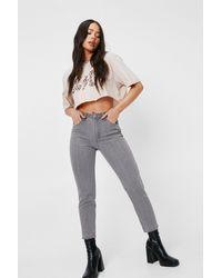 Nasty Gal - Petite High Rise Straight Leg Jeans - Lyst