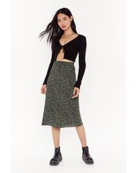 "Nasty Gal ""a Certified Spotty Midi Skirt"" - Green"