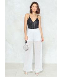 Nasty Gal - Your Disco Needs You Glitter Pants - Lyst