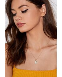 Nasty Gal - St Christopher Necklace - Lyst