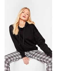 Nasty Gal - Casual Oversized Drawstring Hoodie - Lyst