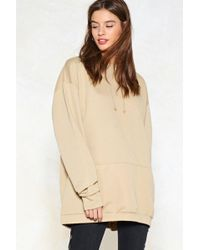 Nasty Gal - And Relax Longline Hoodie - Lyst
