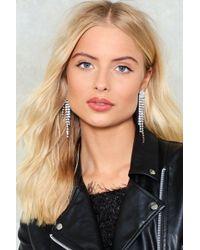 Nasty Gal - Heads Will Roll Diamante Earrings - Lyst