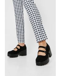 Nasty Gal - Faux Suede Strappy Mary Janes - Lyst