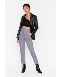 "Nasty Gal ""gingham Up High-waisted Pants"" - Black"