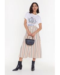 """Nasty Gal """"stripe Of Luck Button-down Midi Skirt"""" - Multicolor"""