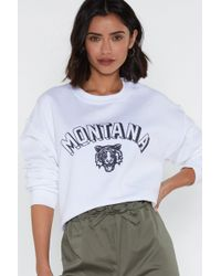 df6d80d89a1a Lyst - Nasty Gal Rise Of Dawn Baby Girl Cropped Sweatshirt in White