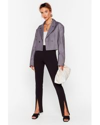 Nasty Gal Get Your Slit Together High-waisted Trousers - Black