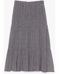 Nasty Gal Gingham Hell Tiered Maxi Skirt - Black