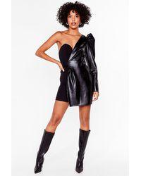 Nasty Gal We've Met The One Shoulder Mini Dress - Black