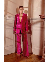 Nasty Gal You're Losing Your Touch Velvet Blazer - Pink