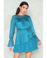 Nasty Gal - Ruffle Belted Dress Ruffle Belted Dress - Lyst