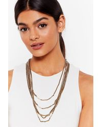 Nasty Gal All My Layers Chain Necklace - Metallic