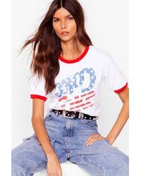 Nasty Gal T-Shirt À Détails Contrastants Et Imprimé Coca-Cola - Blanc