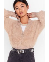 """Nasty Gal """"knits Not Gonna Happen O-ring Zip Sweater"""" - Multicolor"""