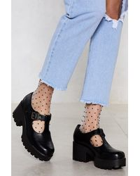 """Nasty Gal """"head T-the-bar Cleated Shoe"""" - Black"""