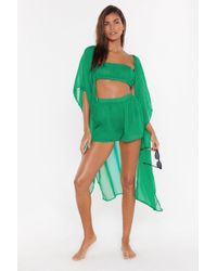 Nasty Gal Life's A Beach 3-pc Cover-up Set - Green