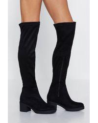 dc759a47f22d5e Women s Nasty Gal Knee boots