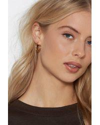 Nasty Gal - Hoop Me In Earrings - Lyst