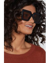 """Nasty Gal - """"for All You Square Oversized Shades"""" - Lyst"""