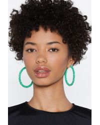 Nasty Gal - These Are A Crust Hoop Earrings - Lyst