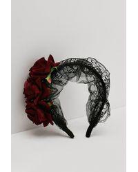 Nasty Gal Mesh Lace Rose Headband - Multicolour