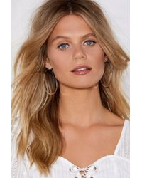 Nasty Gal - Oval And Out Earrings - Lyst