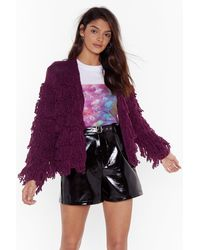 Nasty Gal - Gimme More Shaggy Cardigan - Lyst