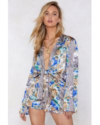 Nasty Gal - Pounce On These Satin Shorts - Lyst