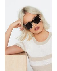Nasty Gal Now It's Purr-sonal Cat-eye Sunglasses - Multicolor