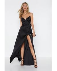 "Nasty Gal ""when The Moon's Out Maxi Dress"" - Black"