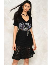 Nasty Gal Right Thru Me Ruffled Skirt - Black