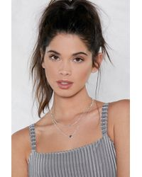 Nasty Gal | Follow Your Heart Layered Necklace | Lyst