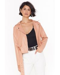 445cc4ce3 Love Leather Felt So Good Faux Leather Jacket - Multicolour