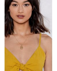 Nasty Gal - You Rule Soverign Necklace - Lyst