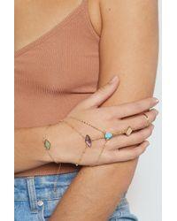Nasty Gal Set In Stone Harness Bracelet - Metallic