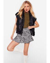 "Nasty Gal ""cat You See Leopard Mini Skirt"" - Black"