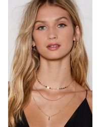 Nasty Gal Triple Layer Chain Necklace Triple Layer Chain Necklace - Metallic