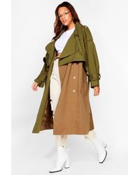 Nasty Gal Back To Mac Oversized Plus Trench Coat - Natural