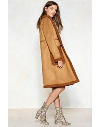 Nasty Gal - In The Fur-eseeable Future Faux Fur Shearling Coat - Lyst