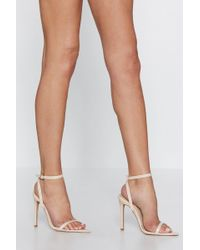 Nasty Gal - Point Me To The Bar Strappy Heel - Lyst