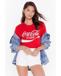 """Nasty Gal """"play Your Cards Tight High-waisted Denim Shorts"""" - White"""