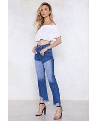 Nasty Gal - Get Ur Freak On Patch Jeans - Lyst