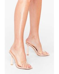 Nasty Gal Clear Your Schedule Stiletto Heeled Mules - Multicolour