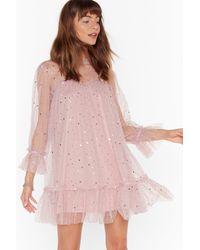 "Nasty Gal ""star And Wide Mesh Mini Dress"" - Pink"