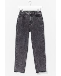 Nasty Gal Do Acid Wash You Want Tapered Jeans - Grey