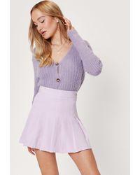 Nasty Gal High Waisted Pleated Tennis Skirt - Purple